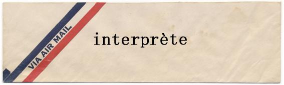 interprète